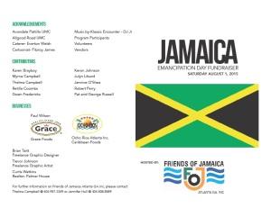 Friends of Jamaica Emancipation day 2015