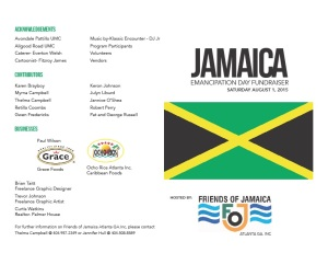 Friends of Jamaica Emancipation day 2015