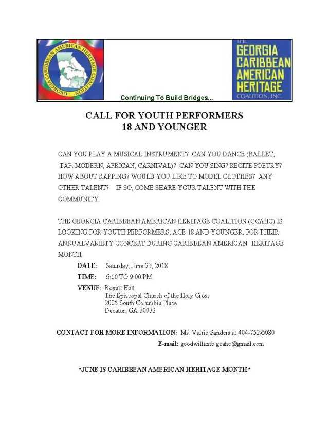 Call for Youth Performers