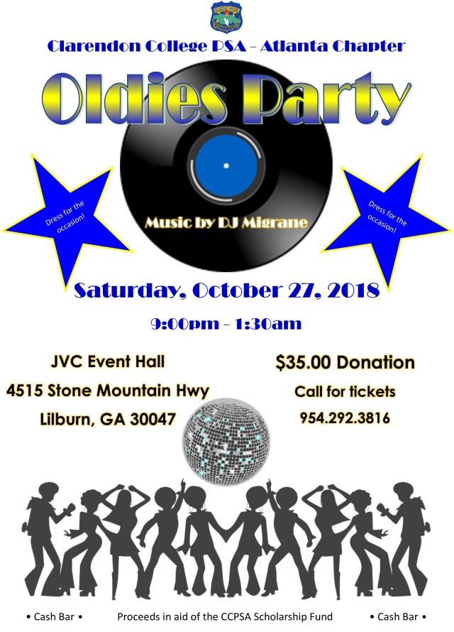 2018 Oldies Party Flyer